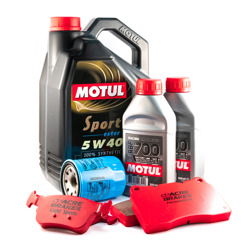 MOTUL Honda Civic Type-R (FK8) SPORT 5W40 5L Engine Oil, Brake Pad & Fluid Service Pack
