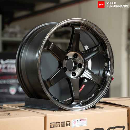 Volk Racing TE37SL Super Lap  - 19x9.5+22/10.5+35 5x112 PRESSED DOUBLE BLACK (SET)